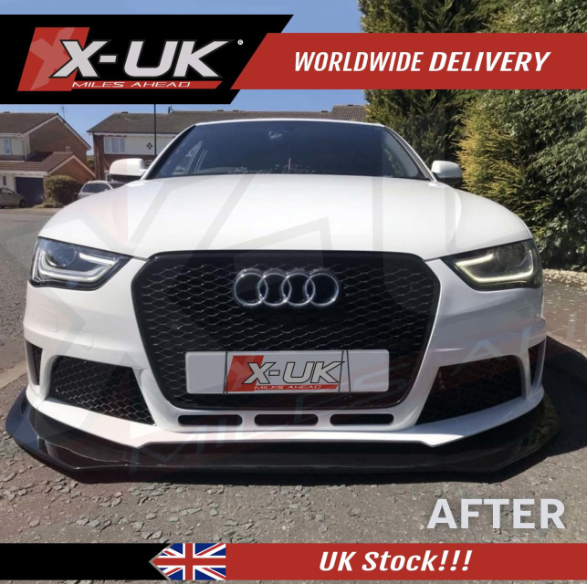 2013-2015 RS4 Style Front Bumper Conversion For AUDI A4