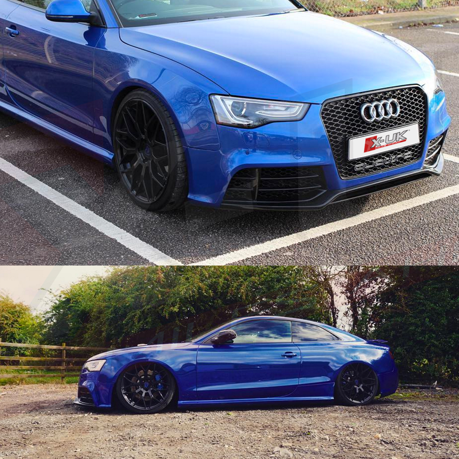 "AUDI A5 2012+ Facelift To RS5 Front Grill ""gloss Black"""