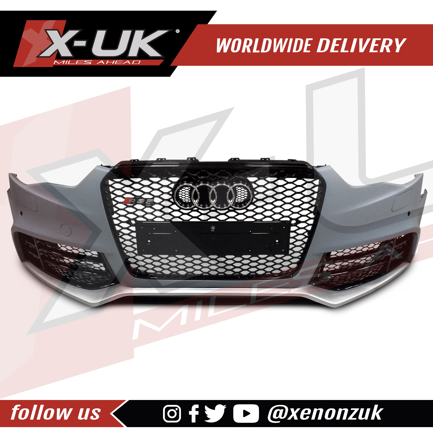 AUDI A5 2012+ To RS5 Front Bumper Conversion