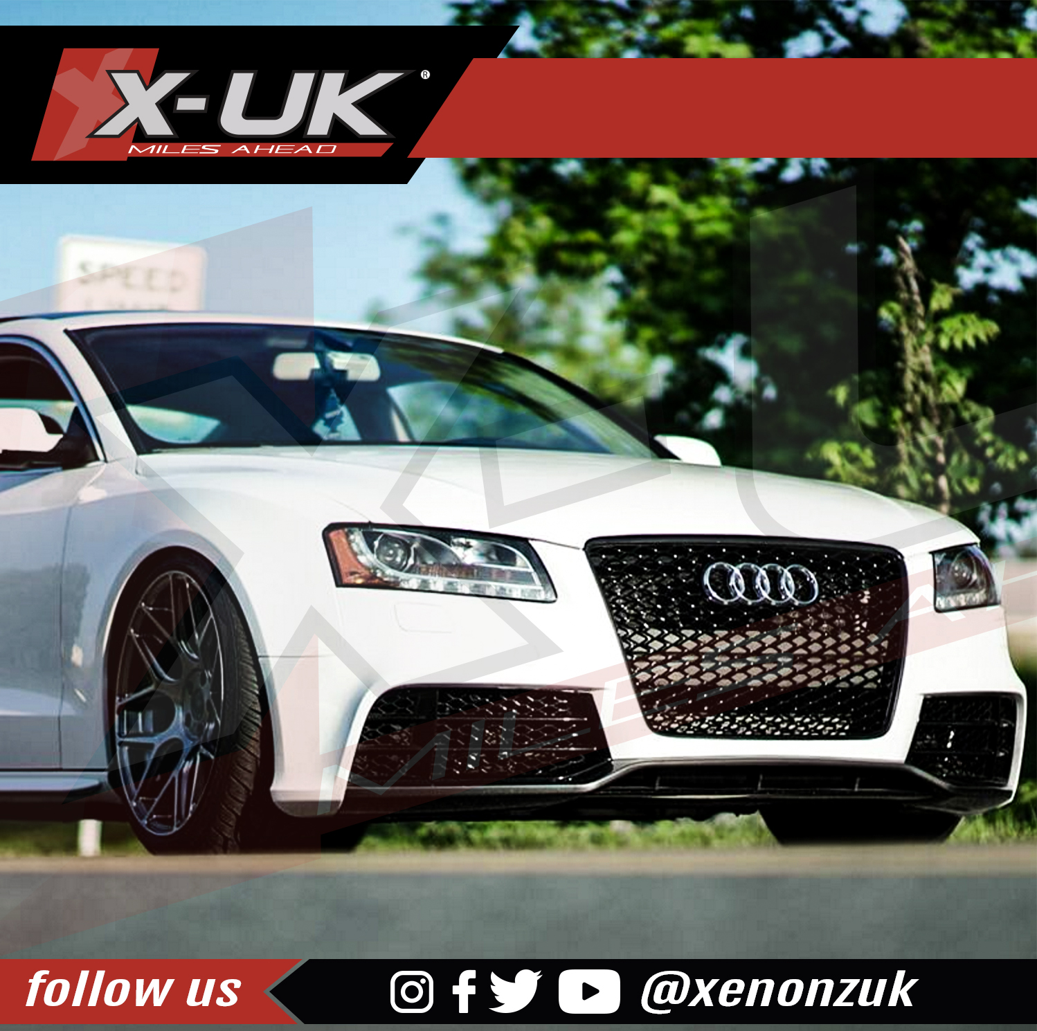 AUDI A5 / S5 TO RS5 FRONT GRILL GLOSS BLACK