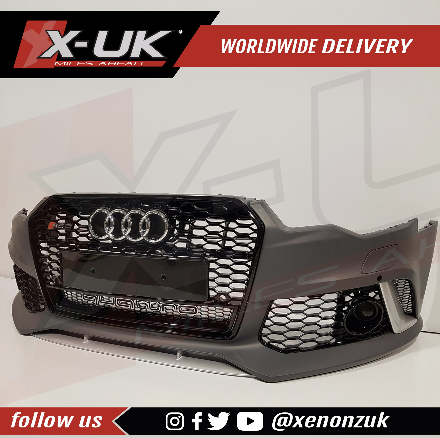 Audi A6 / S6 2015+ TO RS6 C7 Front Bumper Conversion With