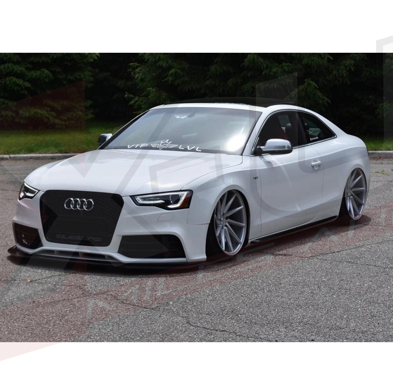 Audi a5 s5 2012 2015 to rs5 front bumper conversion with quot quattro grill quot