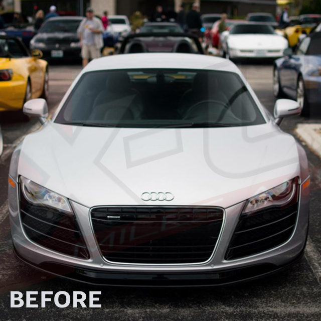 """AUDI R8 Front Grill Pre-facelift 2007-2012 """"gloss Black"""