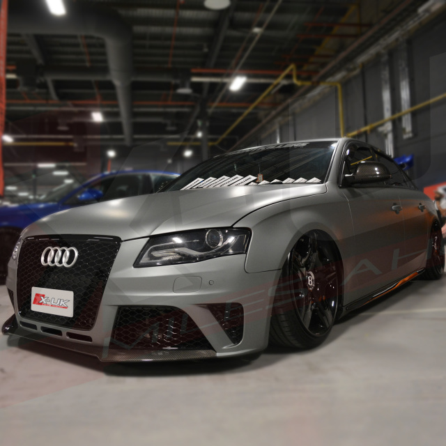 """AUDI A4 / S4 B8 2008-2012 TO RS4 Front Grill """"gloss Black"""""""