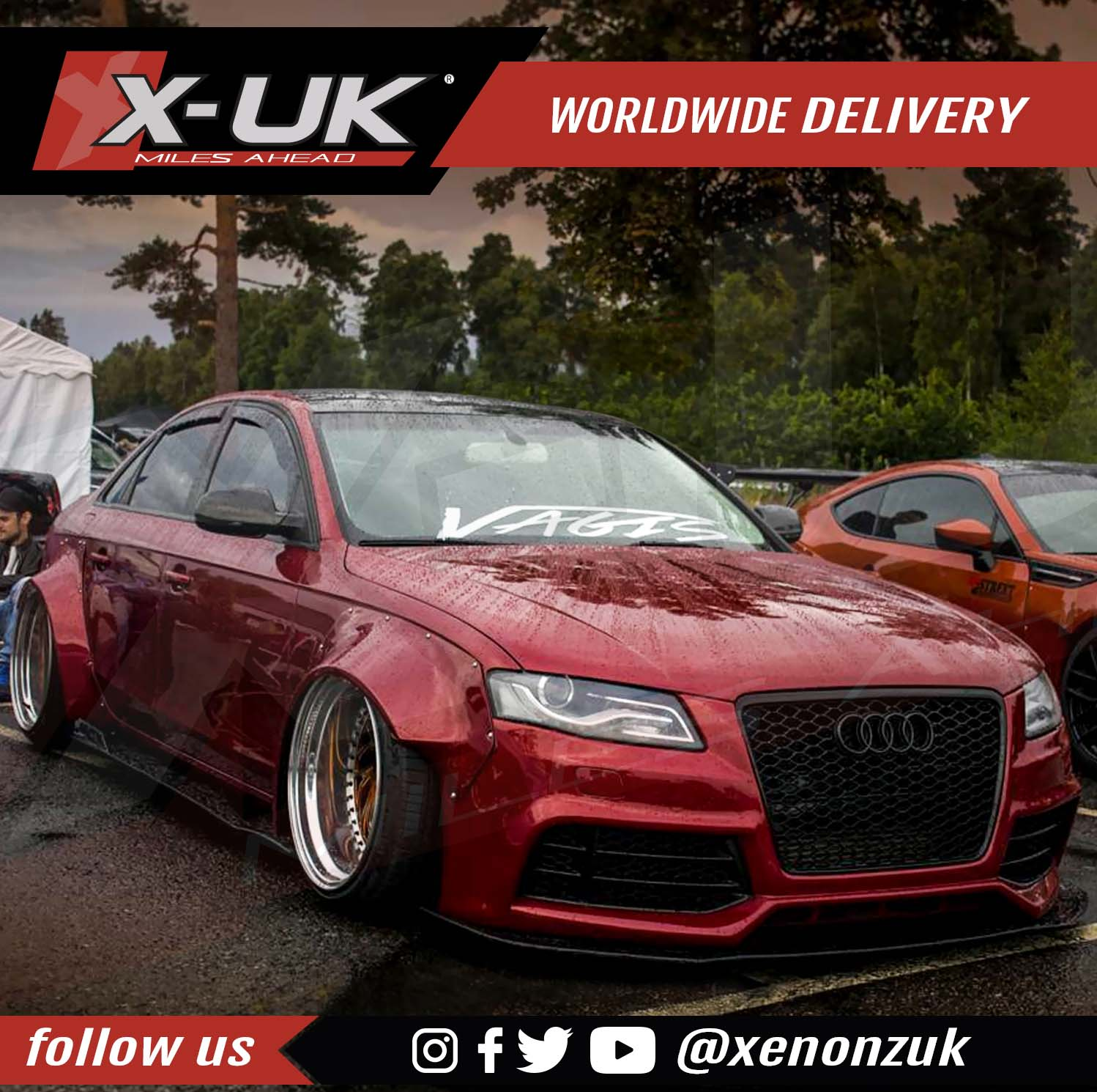 Audi A4 S4 Rs4 B8 Lip Kit Extension