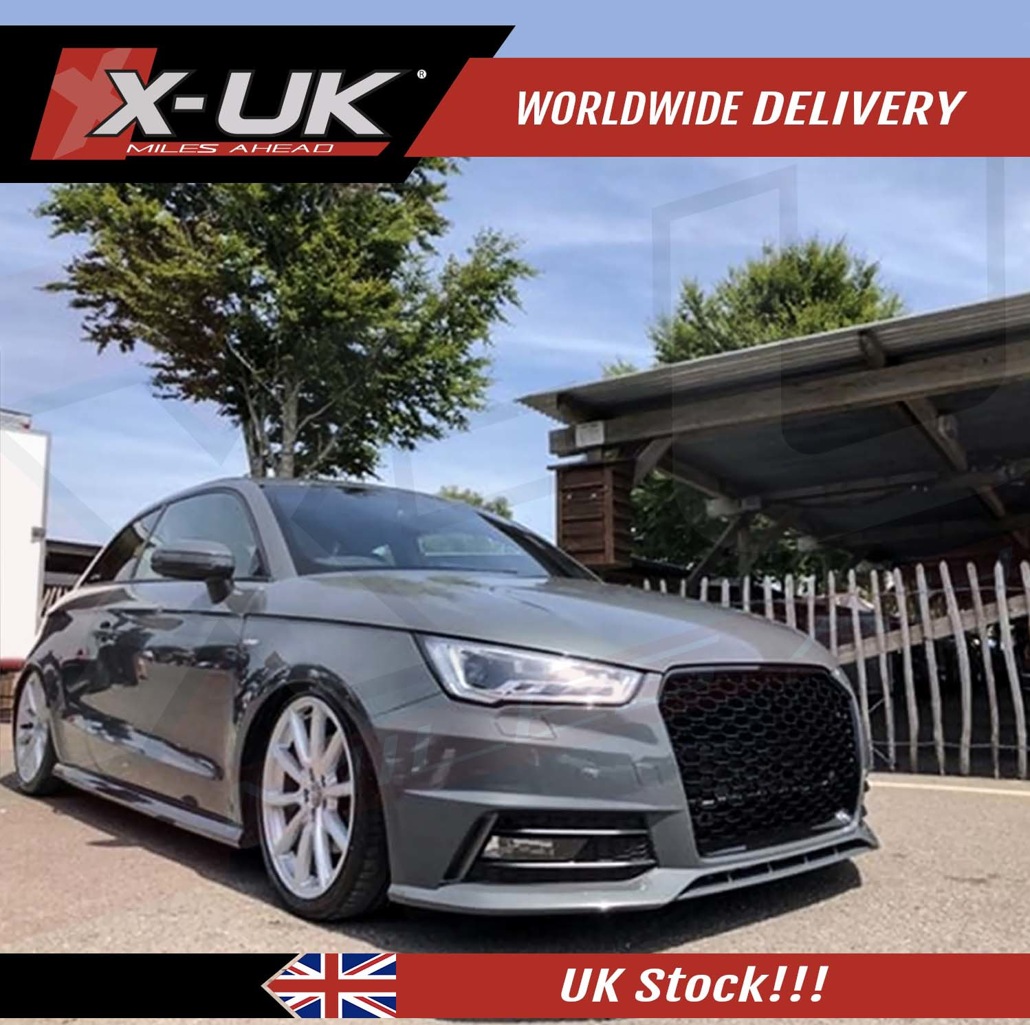 Front Grill Full Honeycomb Mesh Design For Audi A1 2015