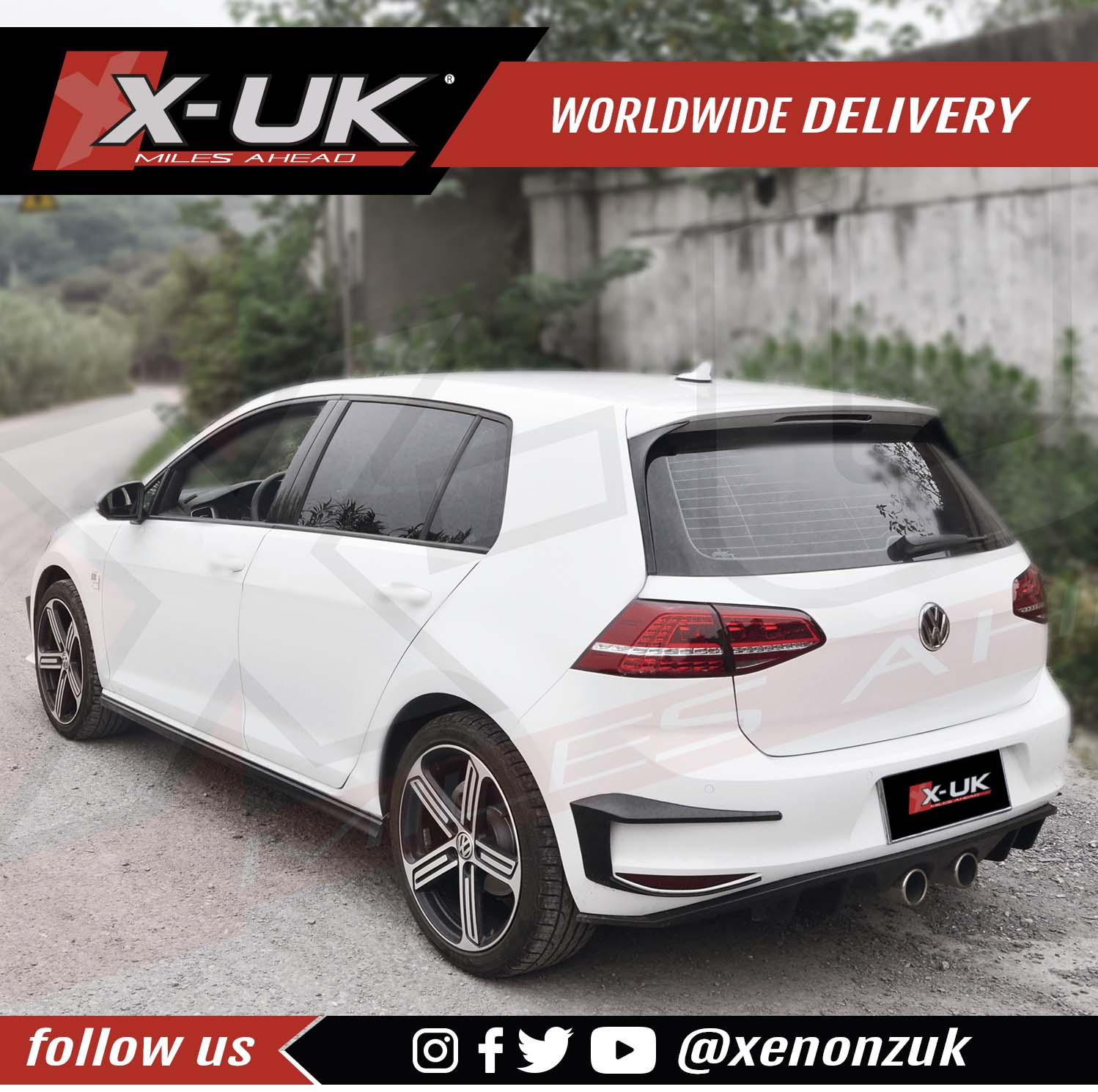 vw golf 7 r400 style body kit conversion. Black Bedroom Furniture Sets. Home Design Ideas
