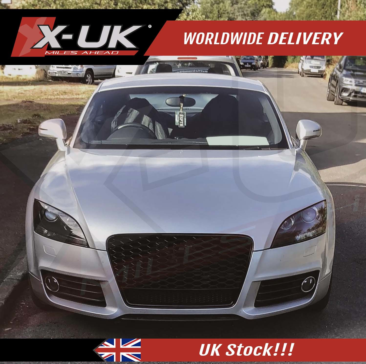 Front Grill Gloss Black With Lower Frame For Audi Audi Tt Tts 2006