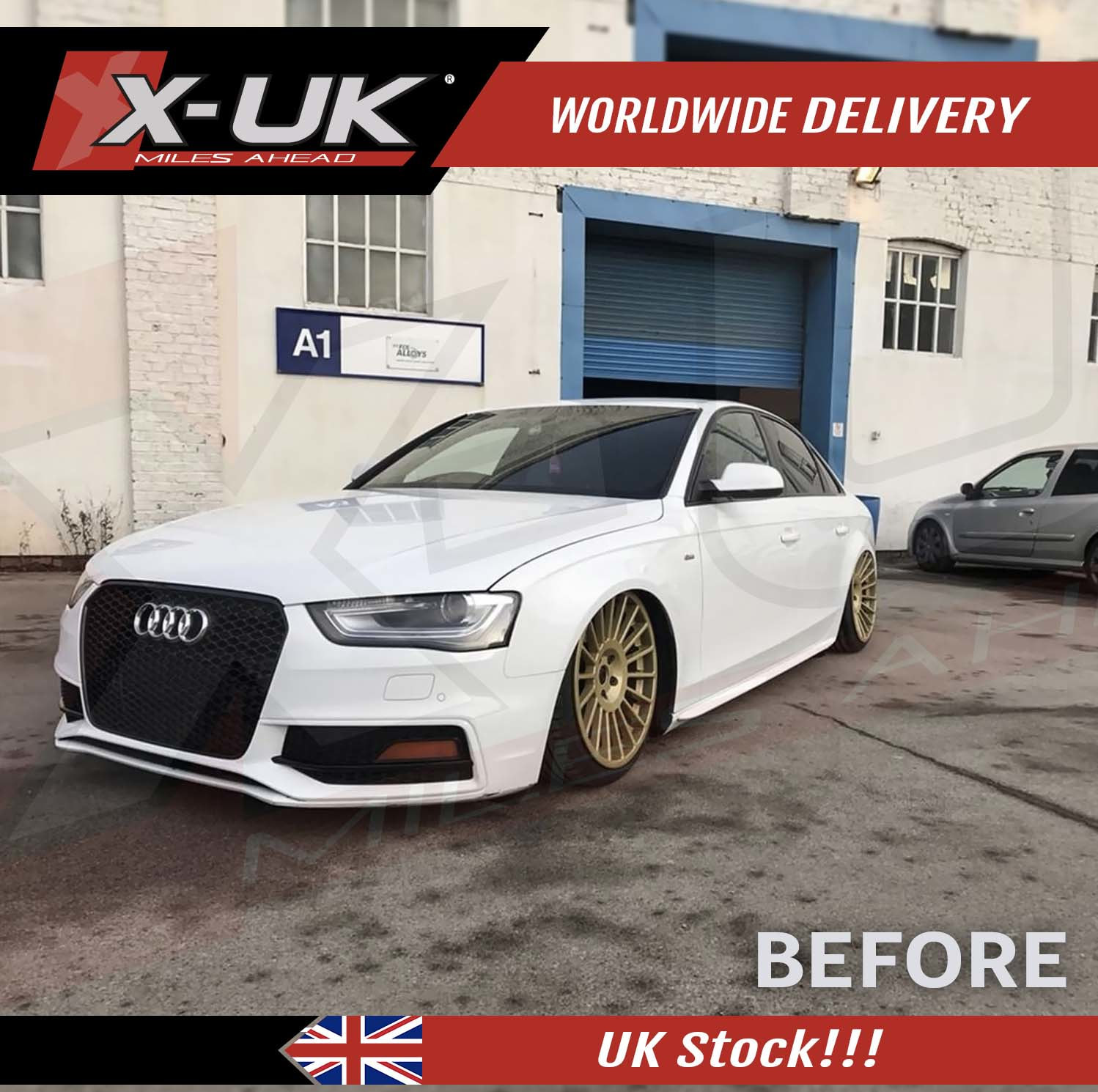 2013 2015 Rs4 Style Front Bumper Conversion For Audi A4