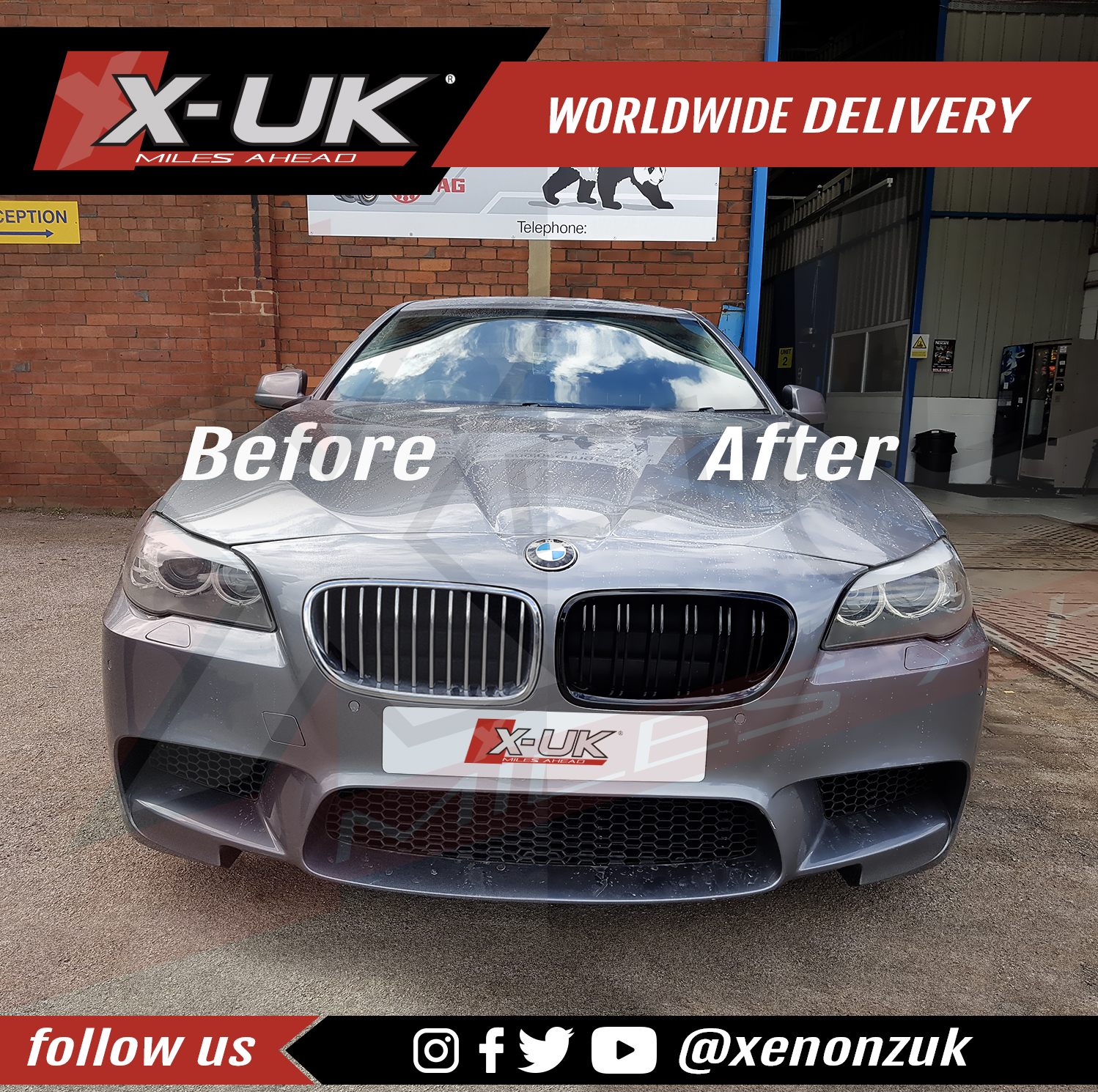 "2012 Bmw F10 M5 Saloon Uk: BMW E39 5 Series M5 F10 Style Double Slat Grills ""gloss"
