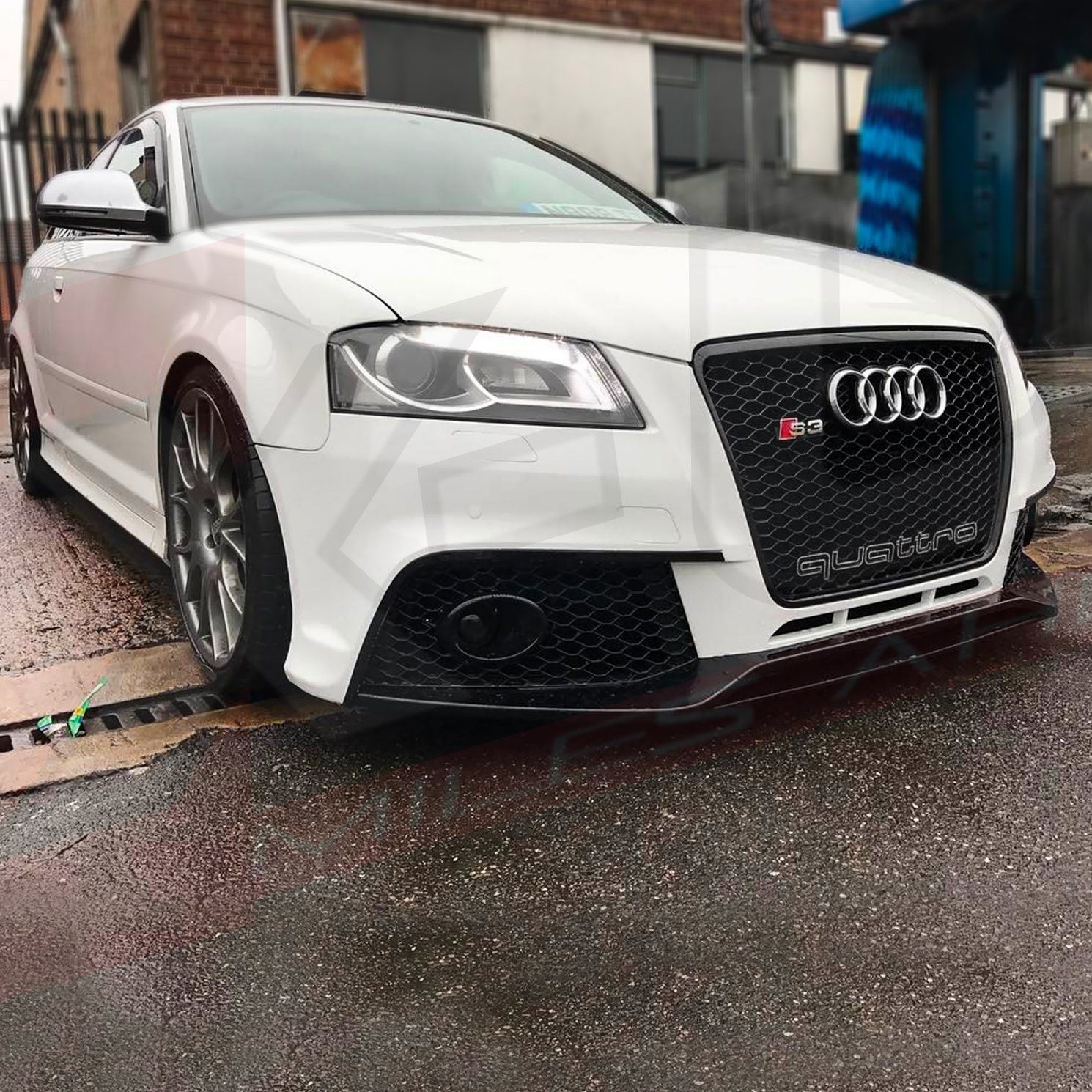 rs3 style front bumper conversion for audi a3 s3 2009 2012. Black Bedroom Furniture Sets. Home Design Ideas