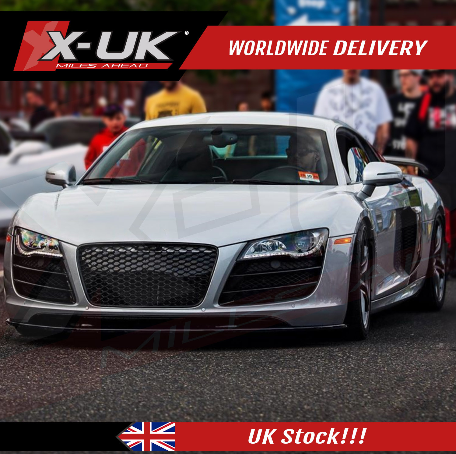 Audi R8 2007-2012 front grill gloss black