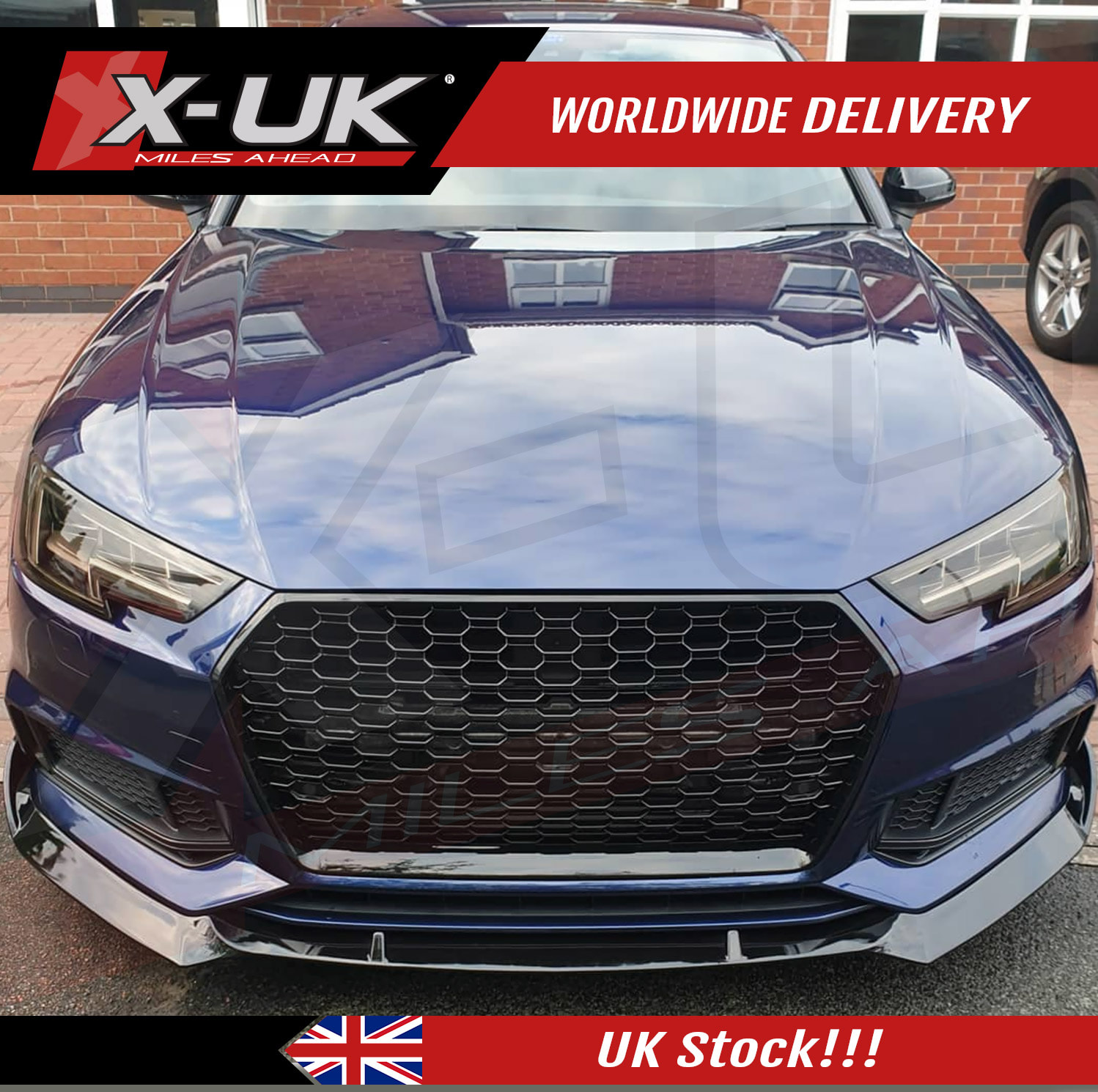Rs4 Style Front Grill Gloss Black For Audi A4 S4 B9 2016