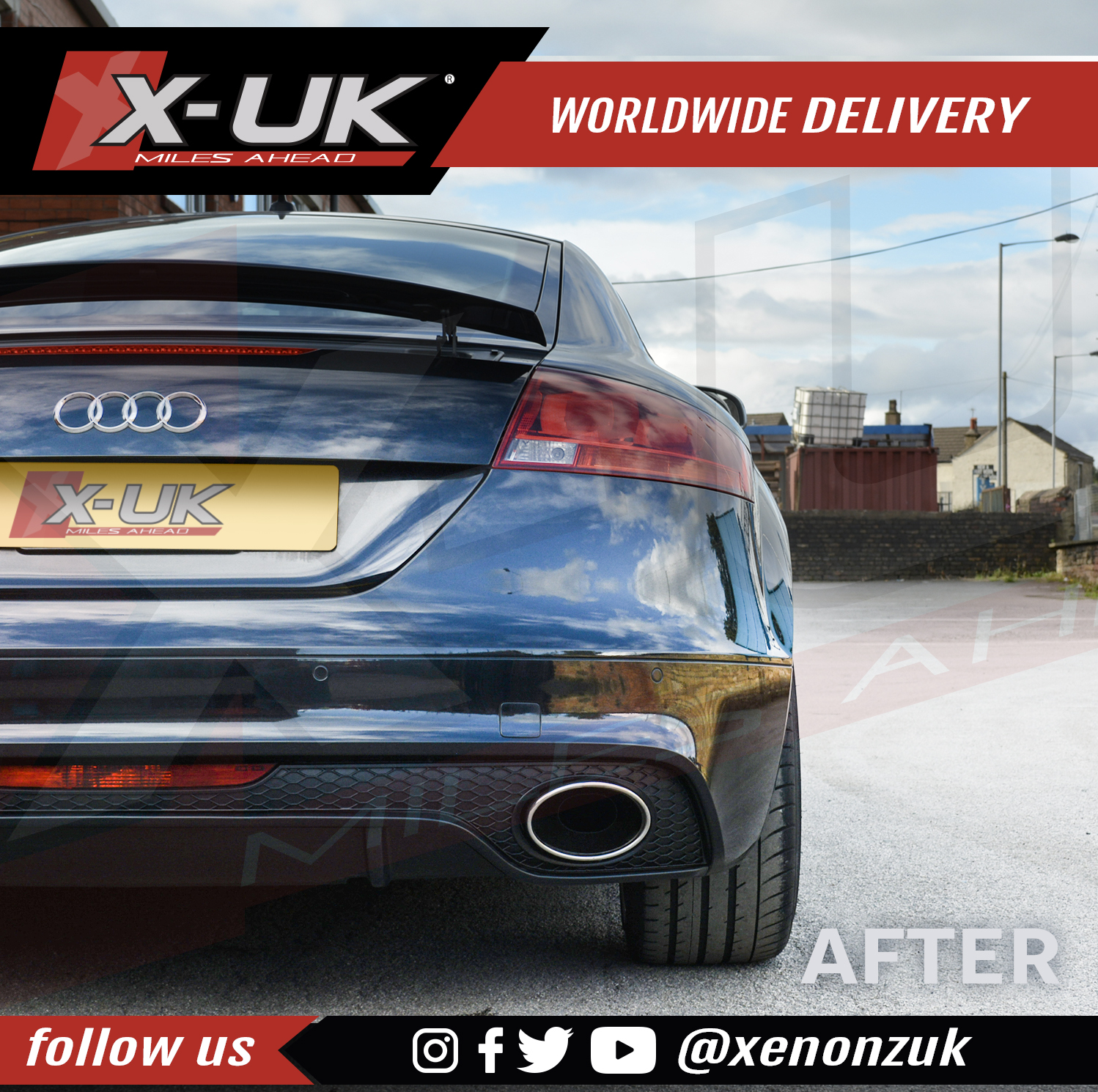 "Rear Diffuser For Audi TT / TTS 2006-2014 ""MK2"""