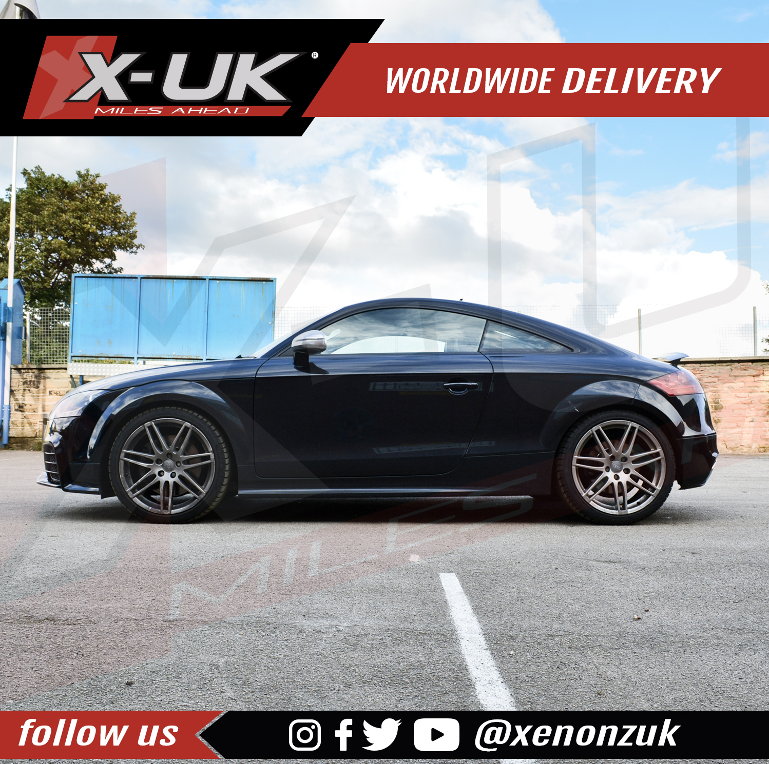 Side Skirts For Audi TT / TTS 2006-2014 (PAIR